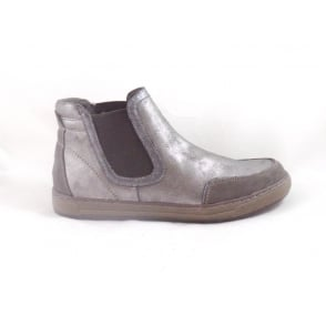 Taupe Metallic Chelsea Boot