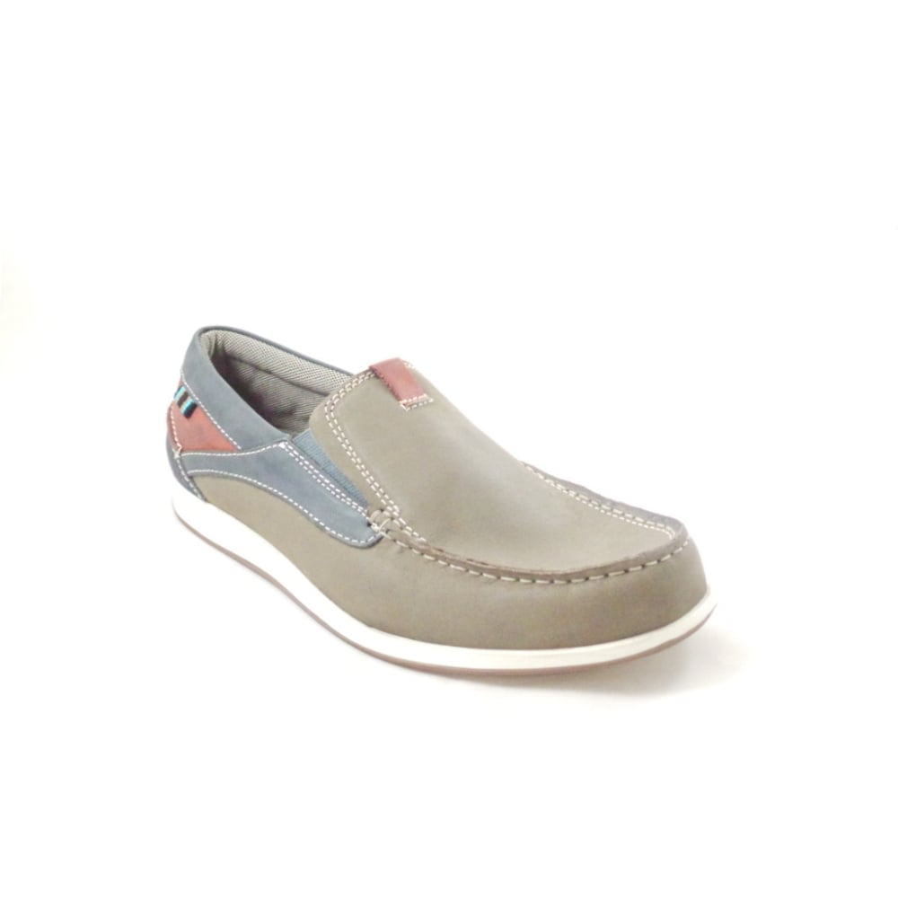 lotus taupe multi leather slip on casual shoe lotus from