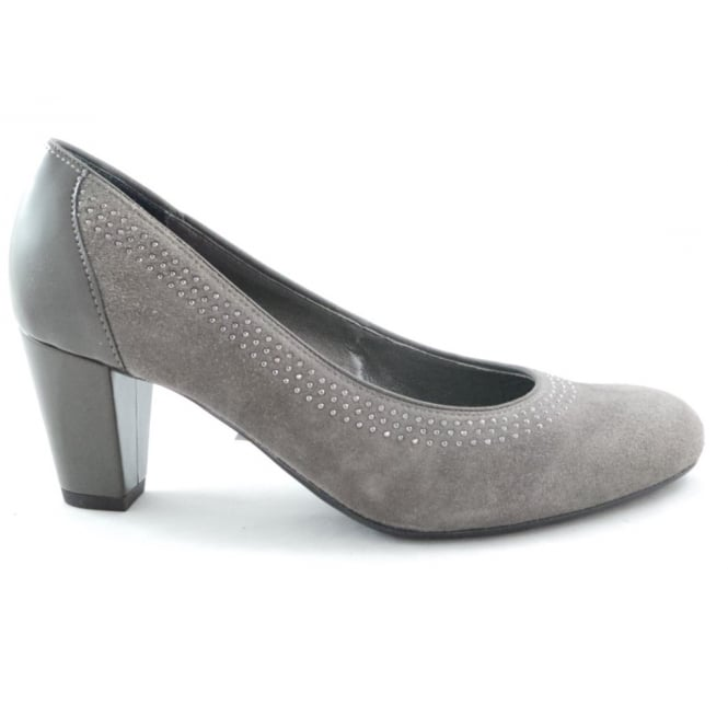 Ara Taupe Suede Court Shoe