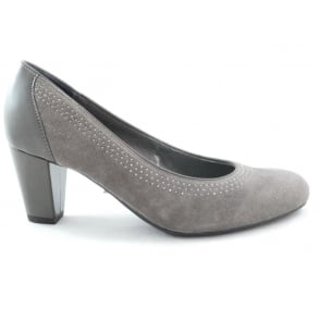 Taupe Suede Court Shoe
