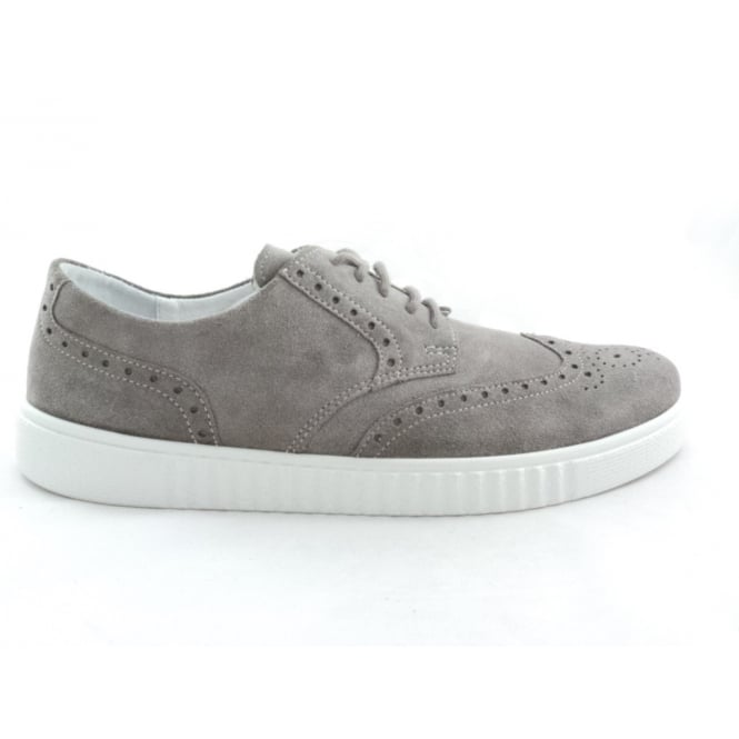 Rohde Taupe Suede Lace-Up Casual Brogue
