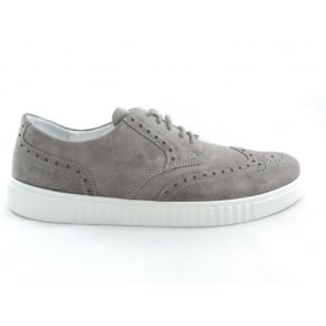 Taupe Suede Lace-Up Casual Brogue