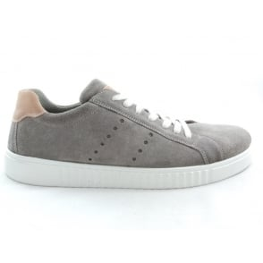 Taupe Suede Lace-Up Casual Shoe