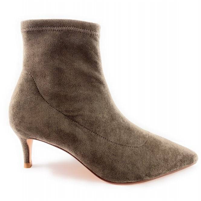 Lotus Taupe Suede Stretch Sock Boot