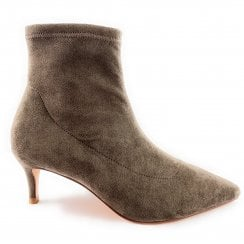 Taupe Suede Stretch Sock Boot