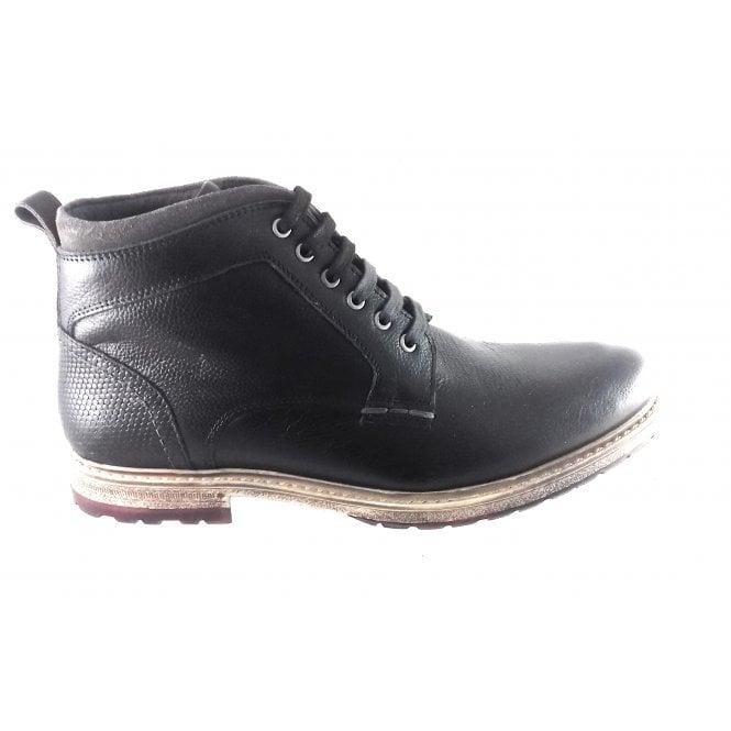 Lotus Teddington Black Leather Lace-Up Boot