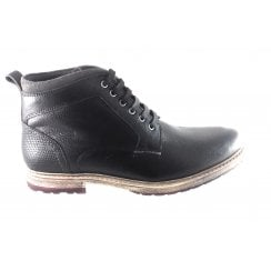 Teddington Black Leather Lace-Up Boot
