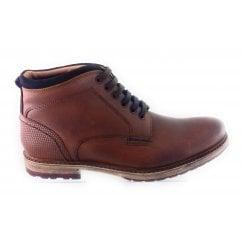 Teddington Cognac Leather Lace-Up Boot