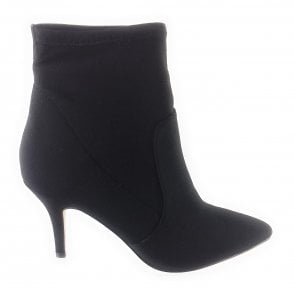 Thames Black Shimmer Stretch Ankle Boot