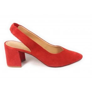 Tiana 411-91370-3400 Red Suede Sling-Back Court Shoes