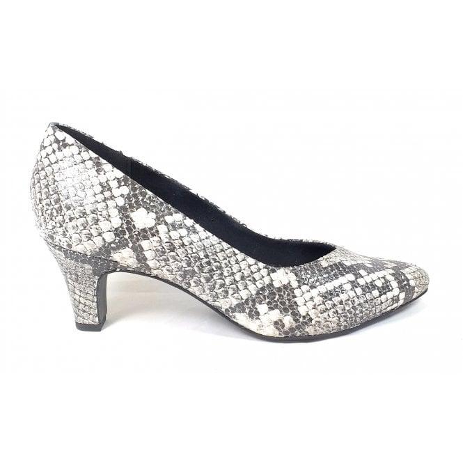 Bugatti Tiana 412-68574-4800 Off-White Reptile Print  Court Shoes