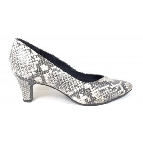 Tiana 412-68574-4800 Off-White Reptile Print  Court Shoes