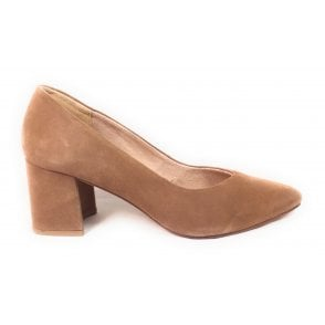 Tiana Revo 411-91371-3400 Taupe Suede Court Shoes