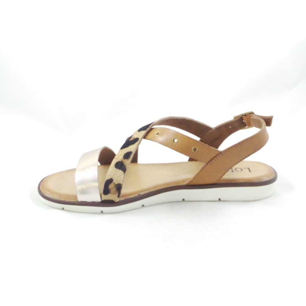 Lotus Tigerlily Tan Leather and Leopard