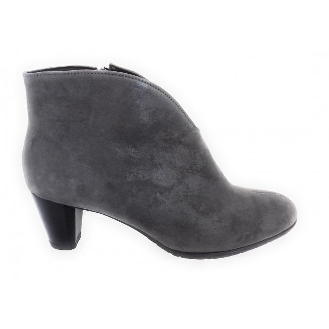 Ara Toulouse-St 12-23408 Grey Metallic Leather Ankle Boot