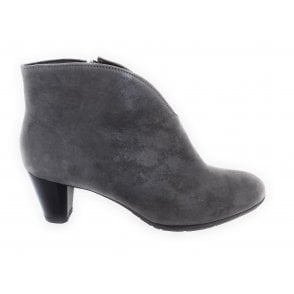Toulouse-St 12-23408 Grey Metallic Leather Ankle Boot
