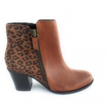Tulisa Tan Leather Ankle Boot