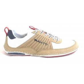 Turaco 321-A3E02-5450 Mens Beige and White Trainers