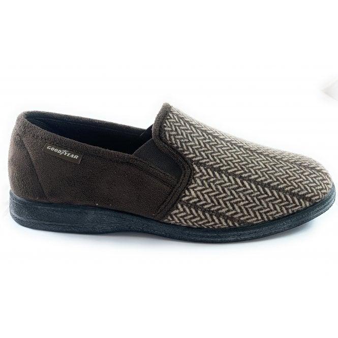 Goodyear Tweed Brown Slippers