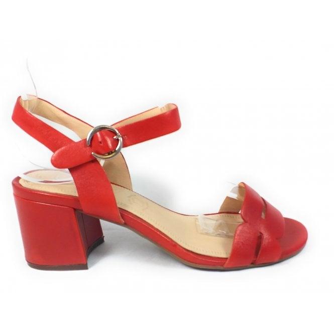 Bugatti Vaiana 411-67984-4100 Red Leather Heeled Sandals