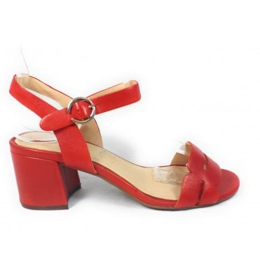 Vaiana 411-67984-4100 Red Leather Heeled Sandals