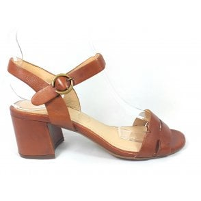 Vaiana 411-67984-4100 Tan Leather Heeled Sandals