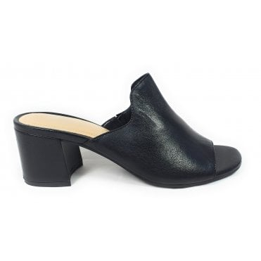 Vaiana 411-67991-4000 Black Leather Mules
