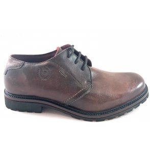 Valente Mens Brown Leather Lace-Up Shoe