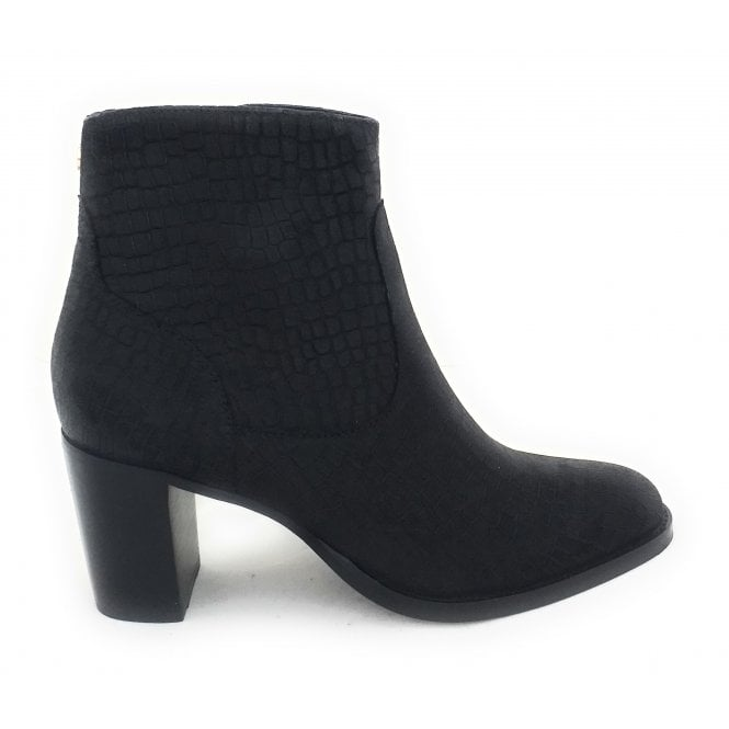 Ravel Valita Black Leather Ankle Boots