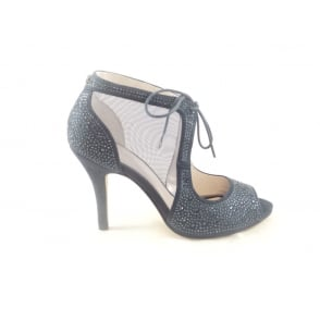 Vanille Navy Microfibre and Diamante Shoe