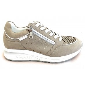 Venice 411-A2T03-3549 Grey and Silver Leather Trainers
