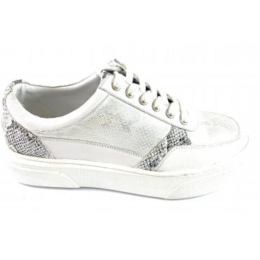 Venice White Leather Casual Shoe