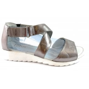 Veronica Pewter Leather Closed Heel Sandal