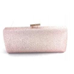 Vibe Rose Gold Glitz Clutch Bag