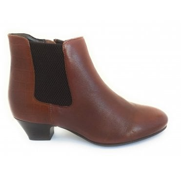 Victoria Brown Leather Ankle Boot