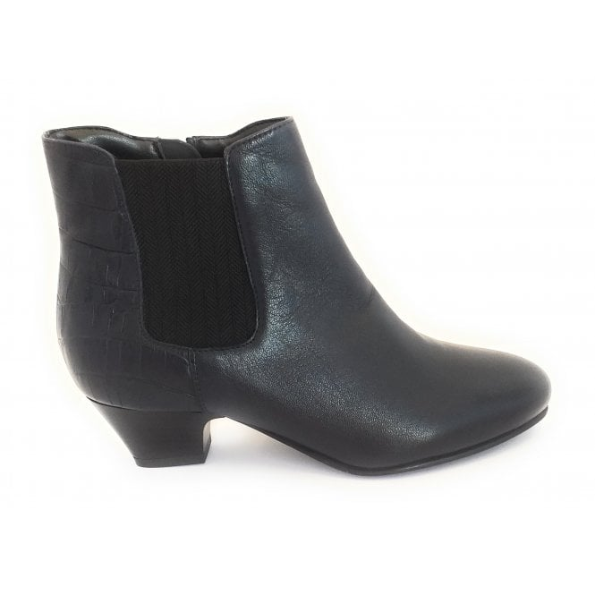Lotus Victoria Navy Leather Ankle Boot