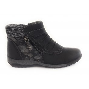 Violette Black Ankle Boot