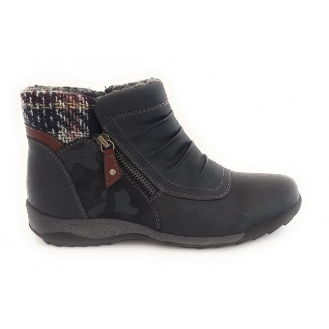 Lotus Violette Navy Ankle Boot