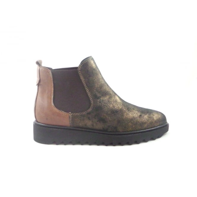 W138 Brown Metallic Nubuck Chelsea Boot