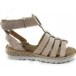 WE24 Marina Beige Leather Gladiator Sandal