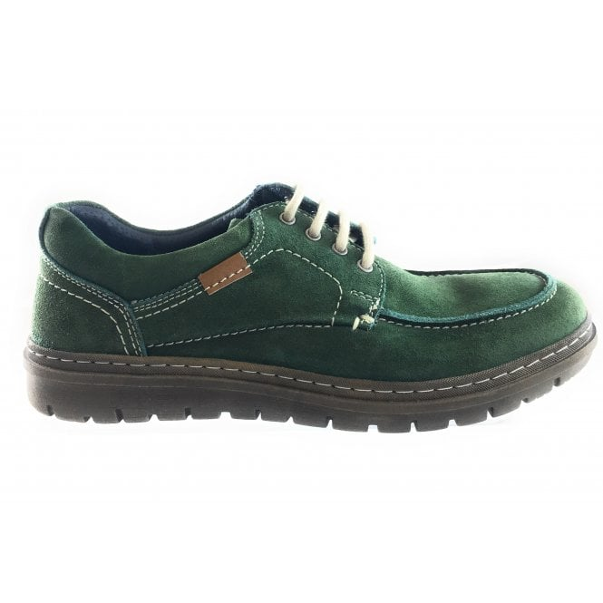 Lotus Wesley Green Suede Lace-Up Casual Shoe