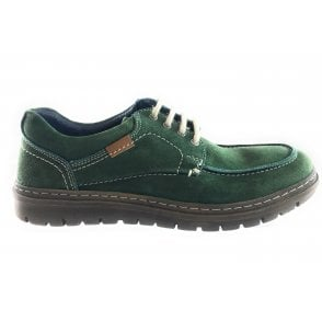 Wesley Green Suede Lace-Up Casual Shoe