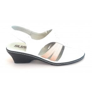 White Leather Open-Toe Sandal