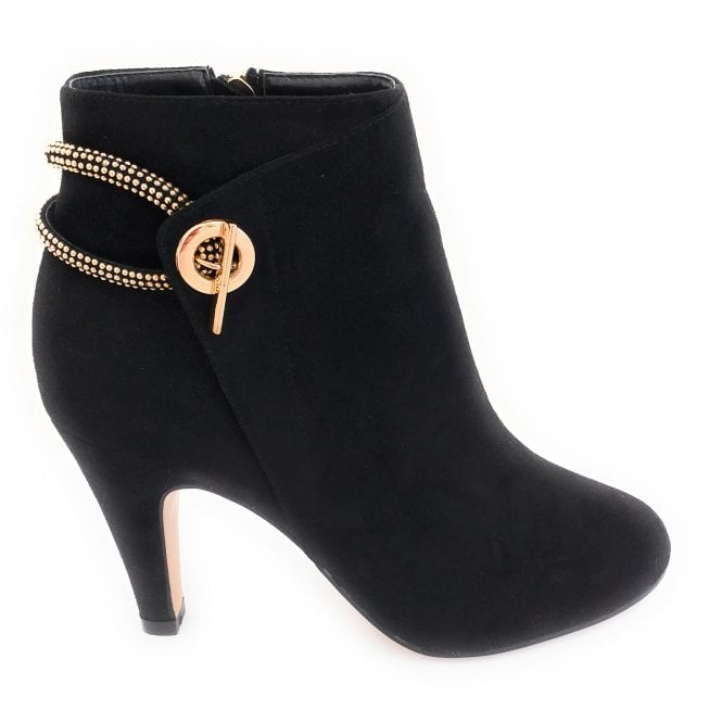 Lotus Whitney Black Ankle Boots