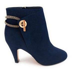 Whitney Navy Ankle Boots
