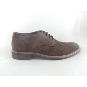 Willington Brown Waxy Suede Brogue