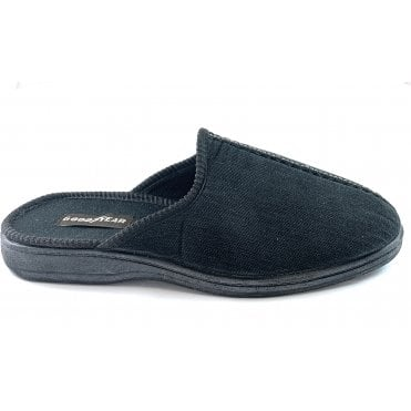Witham Black Mule Slippers