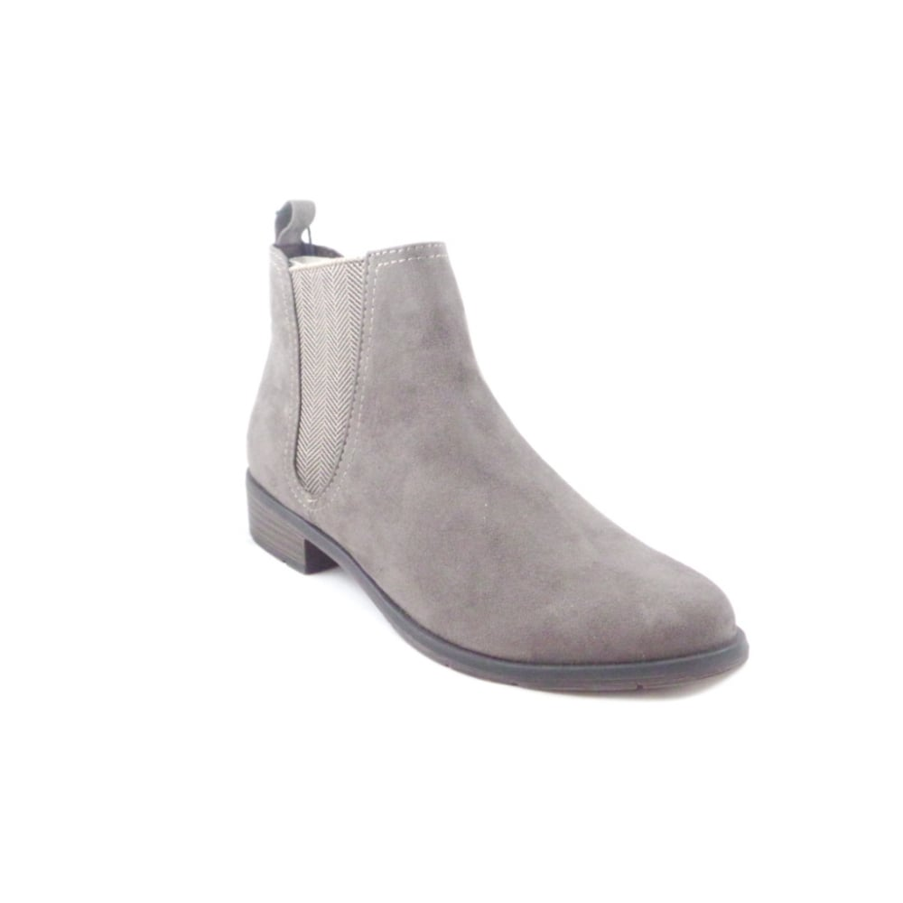 womens taupe faux suede chelsea boot from size4footwear