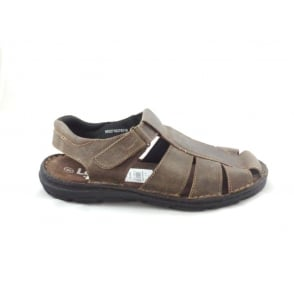 Woodrow Brown Leather Closed Toe Sandal
