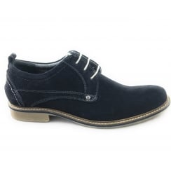 Worthing Navy Suede Lace-Up Shoe